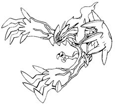Yveltal Coloring Pages Pokemon