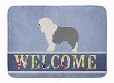 Old English Sheepdog Welcome Machine Washable Memory Foam Mat BB8304RUG
