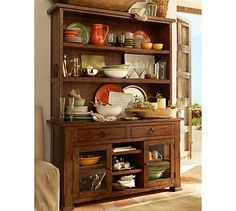 """Frances Buffet & Hutch #potterybarn.  This has such a great """"old"""" feel to it.  It looks like something that would have been in my grandmother's house."""