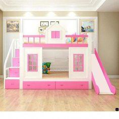 Cama Tipo Litera Para Niña Pink Blue En 2019 Room Bedroom Y