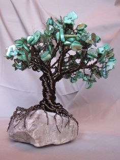Gemstone Wire Tree.