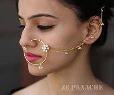 Bridal Flower Nose Ring – zepanache Nath Nose Ring, Nose Ring Jewelry, Bridal Nose Ring, Bridal Flowers, Bangles, Bracelets, Necklace Set, Hoop Earrings, Bracelet