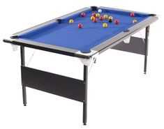 Deluxe Foldaway Pool Table In Multiple Colours 6ft Or 7ft Foldable