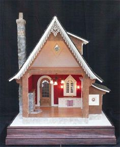 Chocolate cottage by Teresa Layman. She is a great teacher.  via bishopshow.com