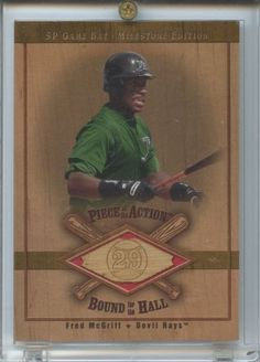 2001 SP Fred McGriff Game Bat Milestone Piece of Action Bound for the Hall B-FM