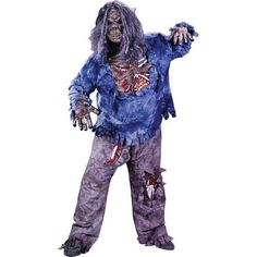 Zombie Complete Child Costume - (Large (12-14))  Includes: pants with Zombie thigh and knee bones, Zombie mask, shirt with rotted flesh chest, skeletal forearms, skeletal gloves.  Features : Size-L *Includes: Pants, mask, wig and gloves  Color : Multi Size : Large (12-14) Product dimensions : 10x10x7 inches Product weight : 1.1 pounds