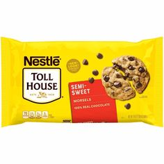 Chocolate Morsels, Semi Sweet Chocolate Chips, Chocolate Chip Cookies, Crock Pot, Baked Chips, Unsweetened Cocoa, Food Network Recipes, Easy, Toll House