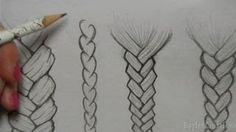 How to Draw Hair: Braids, via YouTube.
