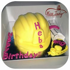 Civil engineering safety helmet cake