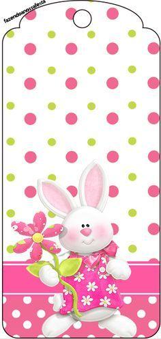Pink Bunny Printable Tag http://fazendoanossafesta.com.br/2014/02/pascoa-para-meninas-kit-completo-digital-com-molduras-para-convites-rotulos-para-guloseimas-lembrancinhas-e-imagens.html