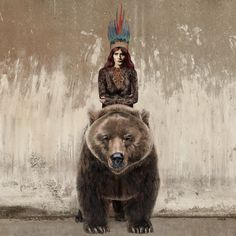 Jamie Mitchell | Artist | Ohh Deer    ...that looks like Florence to me...plus a bear...im not  sure if this could get any better
