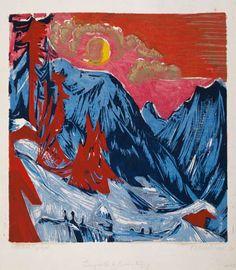 Ernst Ludwig Kirchner - Wintermondnacht