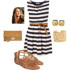 Striped Summer Dress, created by kerri-richardson-hardin