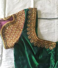 Looking for blouse design to wear with your wedding silk sarees? Here are 19 pretty blouse choices to try and make your special saree even more special. Wedding Saree Blouse Designs, Pattu Saree Blouse Designs, New Blouse Designs, Maggam Work Designs, Designer Blouse Patterns, Work Blouse, Silk Sarees, Saris, Stylish
