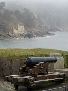 A misty morning at Dartmouth Castle, Devon, in the background is Kingswear Castle both built in 1388 to guard the mouth of the Dart Estuary in Devon, England.  Kingswear Castle is now owned by the Landmark  Trust and is available to rent, how about spending your honeymoon in a 14th century castle, amazing!, by B Lowe