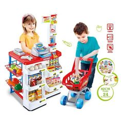 Cheap supermarket playset, Buy Quality kids toys cash register directly from China child playset Suppliers: Large pretend play Children shopping toys supermarket playset booth shopping cart cash register shelves goods Kids diy toys gift
