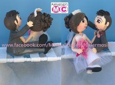 """Topping wedding cake """"Los novios del puente"""""""