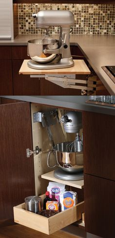 Mixer & Kitchen Appliance Storage Cabinet - A mixer or other heavy kitchen…