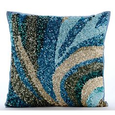 Luxury Light Blue Accent Pillows, Sequins Sea Waves Ocean... https://www.amazon.com/dp/B01645ZGDK/ref=cm_sw_r_pi_dp_x_pYGcybCCAVAJZ