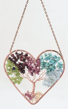Mothers Day Family Suncatcher Tree of Life Wire by Just4FunDesign