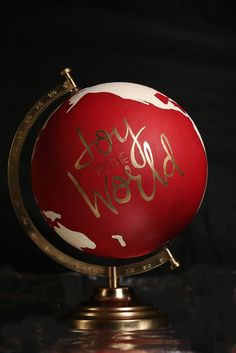 Joy to the World Decorative Christmas Globe by TheAugustReign