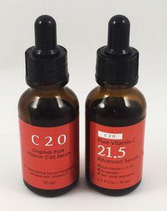 Morning Step 3: Vitamin C/exfoliation, C20 and C21.5 Serums