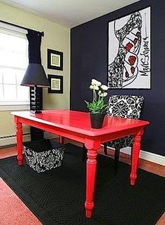 Awesome bright desk!