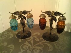 Vintage Glass Grape Salt and Pepper Shakers by cappelloscreations, $16.00@Etsy