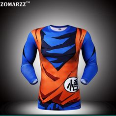 f7cce1b4 Aliexpress.com : Buy Unisex Super Saiyan T shirt Goku Long Sleeve  Compression Fitness Tops Japanese Harajuku Anime Tee from Reliable super  saiyan suppliers ...