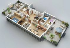 Marvelous 4 Bedroom Apartment/House Plans Visualizer Shake Gurgenidze Does A  Wonderful Job Of Making Four Bedroom Layouts Seem Playful And Brights.