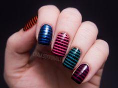 Chalkboard Nails: Urban Decay Showboat Nail Kit - Stripes Stripes Stripes