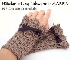 crochet pattern in german. Pulswärmer Häkelanleitung