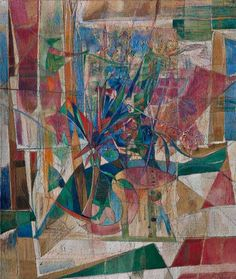 """Fausto De Nisco, """"I fiori e la bandiera"""", olio su tela, cm 131,5x111, dal catalogo della mostra """"Novanta artisti per una bandiera"""", ©2013 corsiero editore"""