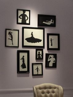 Black/white framed fashion silhouettes