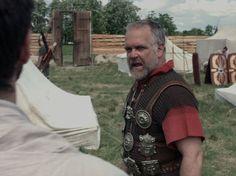 Centurion Vetullio welcoming legionaries