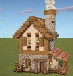 Minecraft House Plans, Minecraft Mansion, Easy Minecraft Houses, Minecraft House Tutorials, Minecraft Room, Minecraft House Designs, Minecraft Blueprints, Minecraft Crafts, Minecraft Things To Build