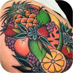 Fruit salad tattoo