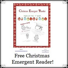 FREE Christmas is Coming Emergent Reader - Enchanted Homeschooling Mom
