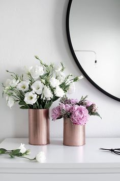How cute are these DIY copper vases? Definitely going to make these.