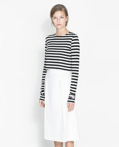 STRIPED CROP T - SHIRT - Collection - Stock clearance - WOMAN | ZARA United States