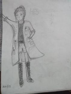 Hes, anime, manga, girl, lány, tudós, köpeny, fehér, ceruza rajz Lany, Anime, Cartoon Movies, Anime Music, Animation, Anime Shows