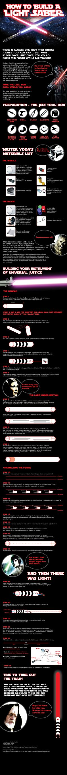 How To Build A Lightsaber!