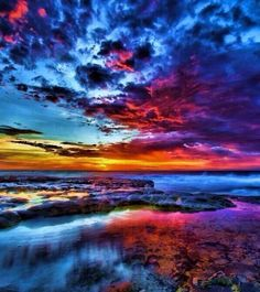 A beautiful, multicolored sky