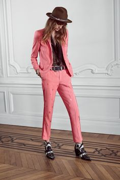 Zadig & Voltaire crêpe straight-leg pants, elastic at back waist, flat felled side seams, angled side pockets, welt pockets at back with fabric coverer buttons, front closure, pocket lining 100% viscose, pants 56% viscose, 44% polyester.