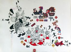cm, sticker on bristol, 2015 Dada Art, Paper Artwork, Buy Art, Fields, Saatchi Art, Street Art, Original Art, Collage, Donald Duck