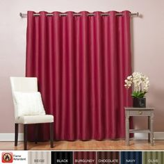 Best Home Fashion Wide Width Flame Retardant Thermal Insulated Blackout Curtain  Antique Bronze Grommet Top  Burgundy  100W x 84L  1 Panel >>> You can get additional details at the image link.