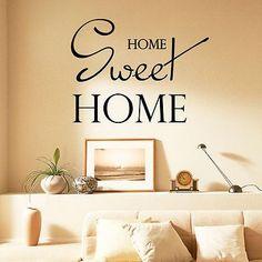 Wall Decals Quote Home Sweet Home Living Room Vinyl Sticker Bedroom Decor DA3767