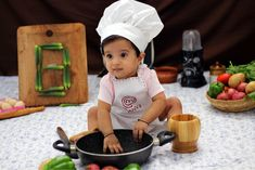 Baby chef, month baby chef, shoot at home Monthly photoshoot at home ideas Baby chef photoshoot at home Monthly photoshoot ideas Baby photoshoot ideas Mother Baby Photography, Funny Baby Photography, Newborn Baby Photography, 8th Month, 7 Month Old Baby, Monthly Baby Photos, Cute Baby Wallpaper, Cute Baby Pictures, Photoshoot Ideas