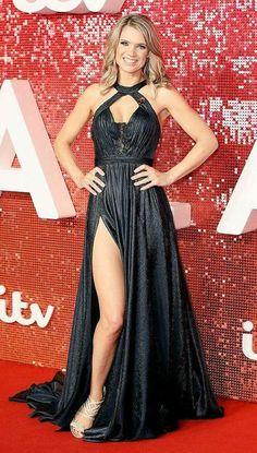 Charlotte Hawkins showing a bit of leg, nicely. Tv Girls, I Love Girls, Sexy Long Dress, Sexy Dresses, Charlotte Hawkins, Jennifer Hawkins, Lovely Legs, Nice Legs, Star Wars