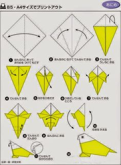 origami parrot